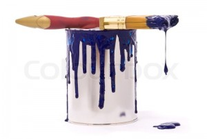 1550812-614370-can-of-blue-paint-and-professional-brush-on-a-white