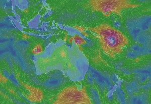 Cyclone close to New Zealand