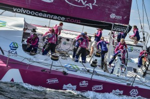 June 14, 2015. Start of Leg 9 from Lorient to Gothenburg. Team SCA