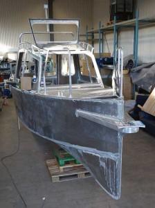 Aluminiumbåt blocket